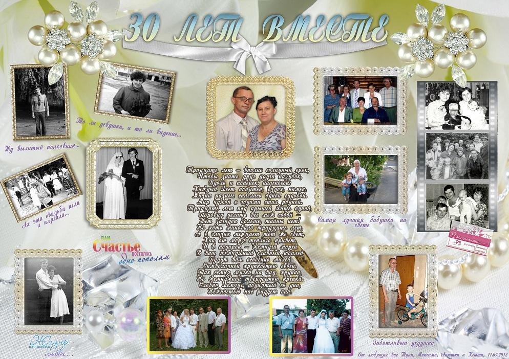 Плакат поздравление на годовщину свадьбы 15