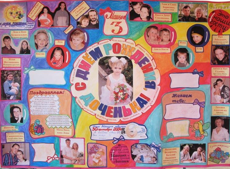 Оригинальный плакат ко дню рождения своими руками